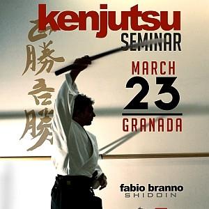 Kenjutsu Seminar 23 Marzo 2013 a Granada Fabio Branno Shidoin