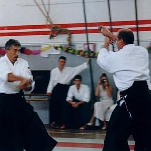 Trecate (NO), manifestazione di Aikido organizzata  e presieduta dal M° Fernando Fiorentino