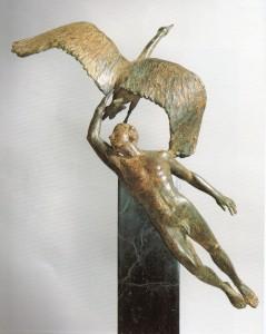 Machiko Kodera La leggenda del Cigno, 1986, bronzo, cm. 48