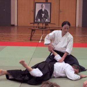 Okomato Sensei ha iniziato la sua formazione nel 1977 presso l'Hombu Dojo, con Kissyomaru Ueshiba Doshu fino al 1979, per poi proseguire la formazione in Francia con Christian Tissier Shihan 1979-1981. Dopo il ritorno a Hombu Dojo nel 1981, seguendo Seigo Yamaguchi Shihan fino alla sua partenza per gli Stati Uniti nel 1989. Ha inoltre studiato con I. Shibata, Hombu Dojo Shihan e attuale Capo Istruttore dell'Aikikai a Berkeley in California