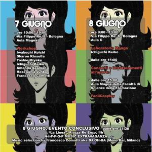 NipPop, un progetto pensato e coordinato dai docenti di lingua e letteratura giapponese dell'Università di Bologna con la collaborazione attiva degli studenti, è incentrato sul Giappone contemporaneo, in particolare su quei fenomeni- cinema, fumetti, film di animazione che hanno contribuito alla diffusione della cultura nipponica.