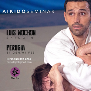 Stage del M° Luis Mochon     Dal 31 gennaio alle 11.30 al 1 febbraio alle 13.30     Perugia Aikido Mizu Dojo     Via Donizetti (San Sisto), 06132 Perugia