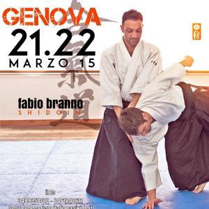 Stage di Aikido a Genova con il M° Fabio Branno  21/22 Marzo 2015   Palestra Montanella via di Branega 10b Genova Pra