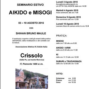 Seminario estivo Aikido e Misogi 3-10 Agosto 2015 Crissolo