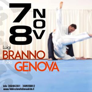 Stage di Aikido con il M° Luigi Branno ed il M° Fabio Branno  7-8 Novembre 2015 Genova