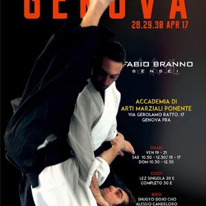 Nei giorni 28-29-30 Aprile 2017 il M°Fabio Branno terrà un Seminario di Aikido presso l'Accademia di Arti Marziali Ponente a Genova in Via Gerolamo Ratto,17